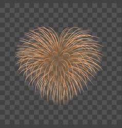 Beautiful heart-firework gold romantic firework vector