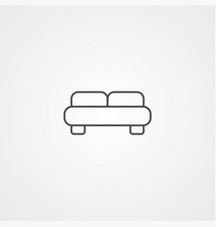 bed icon sign symbol vector image