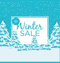 big winter sale poster 2 vector image