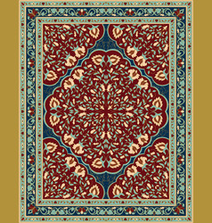 Blue and red for carpet vector