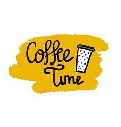 calligraphy text coffee vector image