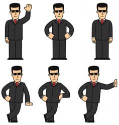 cartoon bodyguard vector image