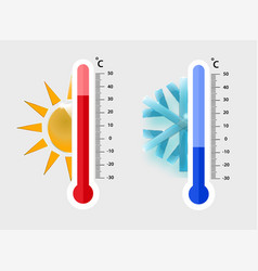 celsius meteorology thermometers measuring heat vector image