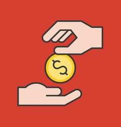 Charity concept icon vector