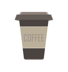 coffee cup icon mug drink cafe hot isolated vector image