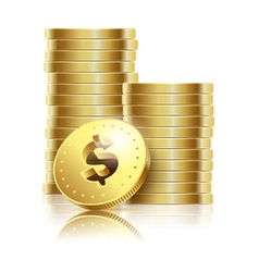coins gold dollar vector image