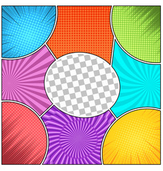 Comic book colorful abstract composition vector