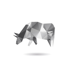 Cow abstract isolated on a white backgrounds vector image
