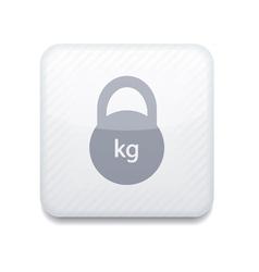 Creative white app icon on white background eps10 vector