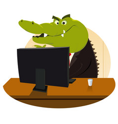 Crocodile bankster vector