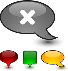 Cross speech comic icons vector