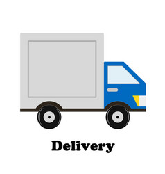 delivery car icon design stock vector image