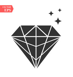 diamond icon in trendy flat style isolated on vector image