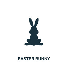 easter bunny icon creative element design from vector image