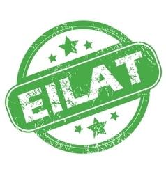 Eilat green stamp vector image