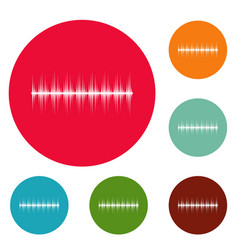 equalizer digital icons circle set vector image