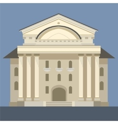 Exterior Of Classic Theatre Building vector
