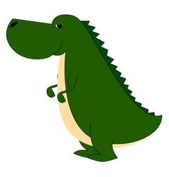 Fat dinosaur on white background vector