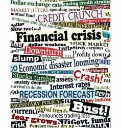 Financial crisis headlines vector