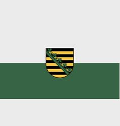 Flag saxony vector