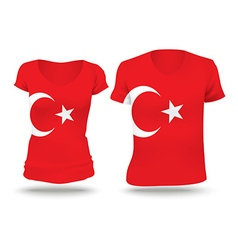 Flag shirt design of Turkey vector