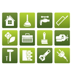 Flat construction and do it yourself icons vector image
