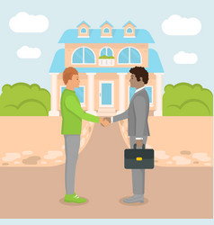flat home buying vector image