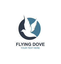Flying dove icon vector