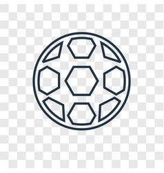 Football concept linear icon isolated on vector
