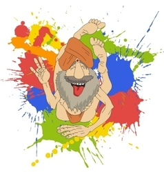 Funny Indian Yogi vector image