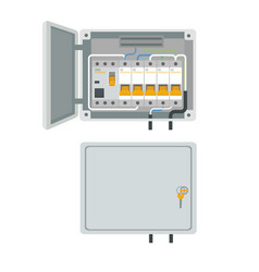 Fuse box electrical power switch panel vector