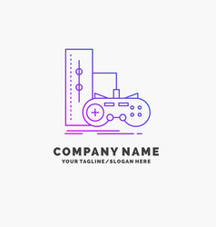 Game gamepad joystick play playstation purple vector