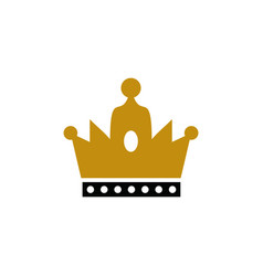 golden crown logo golden crown logo vector image