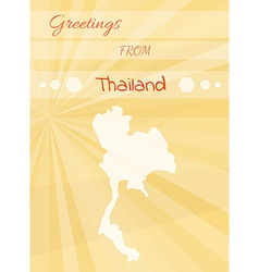 greetings from thailand vector image