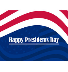 happy presidents day greeting card with red and vector image