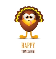 Happy Thanksgiving with turkey vector image