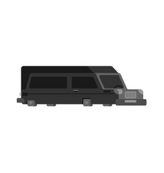 Hearse flat style isolated carriage of corpses vector