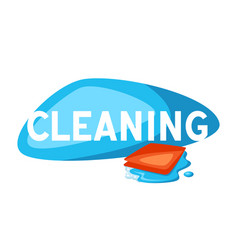 Housekeeping cleaning background vector