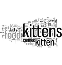 How to tame wild kittens vector