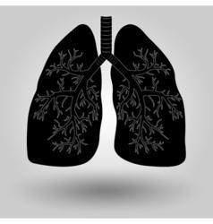 human lung icon vector image