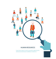 human resource vector image