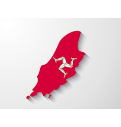 isle man country map with shadow effect vector image
