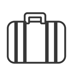 isolated travel suitcase graphic vector image
