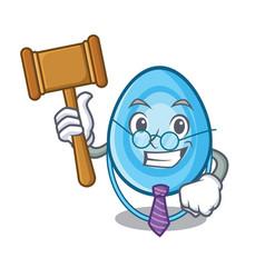 Judge oxygen mask mascot cartoon vector