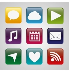 Mobile applications entertainment vector image