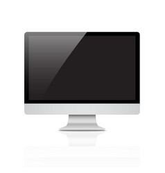 monitor pc realistic with a blank screen on white vector image