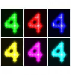 number 4 symbols vector image