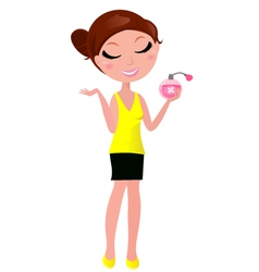 Perfume girl vector