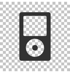 Portable music device Dark gray icon on vector