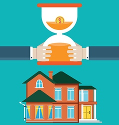 Purchase of housing by mortgage vector image